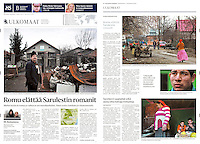Helsingin Sanomat (Finnish daily) on Roma communities in Romania, 2013.02.15. <br /> Photos: Bogdan Croitoru
