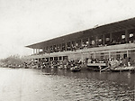 1939: Tientsin Racecourse Grandstand During The Floods Of August & September.  Photographed By A Leo Bridge, Kindly Provided By Ron Bridge.