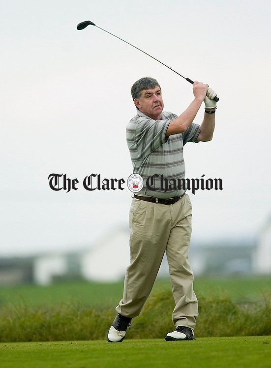 during the President's (Pat Hanrahan) prize at Doonbeg Links Golf Club. Photograph by John Kelly.