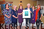 Pictured in the Listowel Arms Hotel on Saturday night at the presentation celebrating the 21st anniversary of Listowel Panissieres Twinning and it was also a tribute night to Aine and Michael Guerin who originally set up the Panissieres Twinning Committee. Pictured are members of the Panissieres French Twinning Committee L-R: Anne Hackett, Noreen McElligot, Aine and Michael Guerin, Listowel, Anne Dillon, Ballydonoghue and Dan O'Sullivan, Listowel.  The scroll that was presented to Aine and Micheael was designed by Eimear O'Sullivan originally from Listowel but now living in Australia.