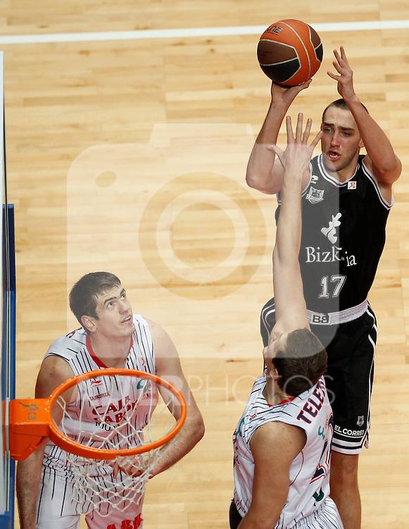 Madrid.- (10/02/2011).-LXXV COPA DE S.M. EL REY.FASE FINAL.Caja Laboral-Bizkaia Bilbao Basket .Axel Hervelle...©Alex Cid-Fuentes/AlfaquiFotografia