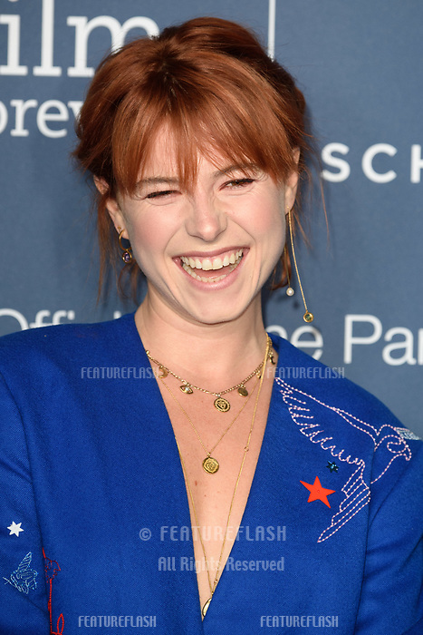 LONDON, UK. October 09, 2018: Jessie Buckley arriving for the 2018 IWC Schaffhausen Gala Dinner in Honour of the BFI at the Electric Light Station, London.<br /> Picture: Steve Vas/Featureflash