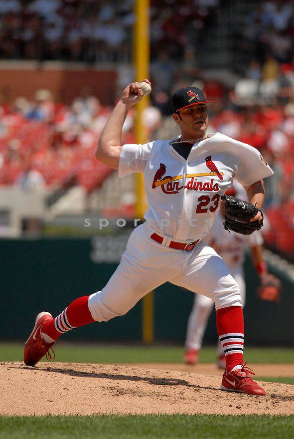 Anthony Reyes, of the St. Louis Cardinals, in action against the Los Angeles Dodgers on July 16, 2006 in Chicago...Cards win 11-3..Chris Bernacchi/ SportPics