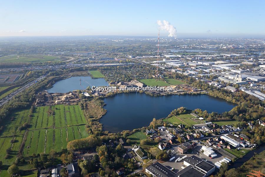 Kiesteiche Billwerder: EUROPA, DEUTSCHLAND, HAMBURG,  29.10.2019: Kiesteiche Billwerder