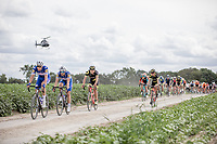 Niki Terpstra (NED/Quick-Step Floors) pounding over  the Plugstreets Gravel Sections. <br /> <br /> <br /> 1st Great War Remembrance Race 2018 (UCI Europe Tour Cat. 1.1) <br /> Nieuwpoort &gt; Ieper (BE) 192.7 km