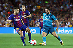 Supercopa de Espa&ntilde;a - Ida.<br /> FC Barcelona vs R. Madrid: 1-3.<br /> Jordi Alba vs Isco.
