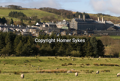 Dartmoor Prison Princetown Devon Uk. Showing prison workers houses.