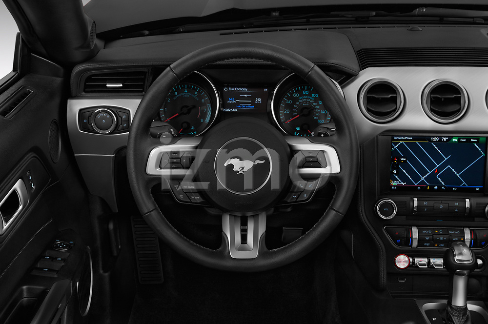 Car pictures of steering wheel view of a 2018 Ford Mustang GT Premium 2 Door Convertible