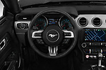Car pictures of steering wheel view of a 2020 Ford Mustang GT Premium 2 Door Convertible