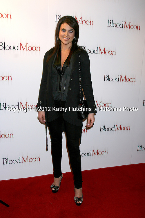 "LOS ANGELES - FEB 9:  Nadia Bjorlin arrives at the ""Blood Moon"" Screening at Sony Pictures Studio on February 9, 2012 in Culver City, CA"