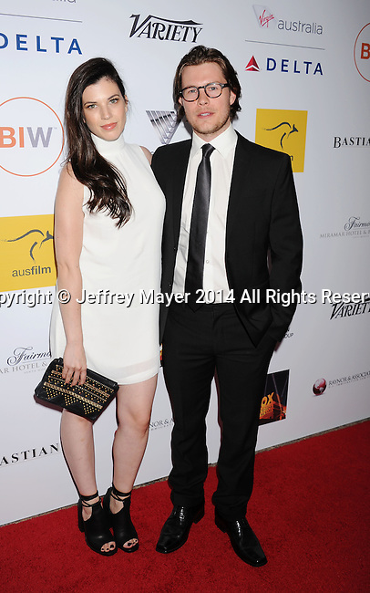 SANTA MONICA, CA- OCTOBER 26: Actors Tanya Zucker (L) and Will Howarth attend the 3rd Annual Australians in Film Awards Benefit Gala at the Fairmont Miramar Hotel on October 26, 2014 in Santa Monica, California.