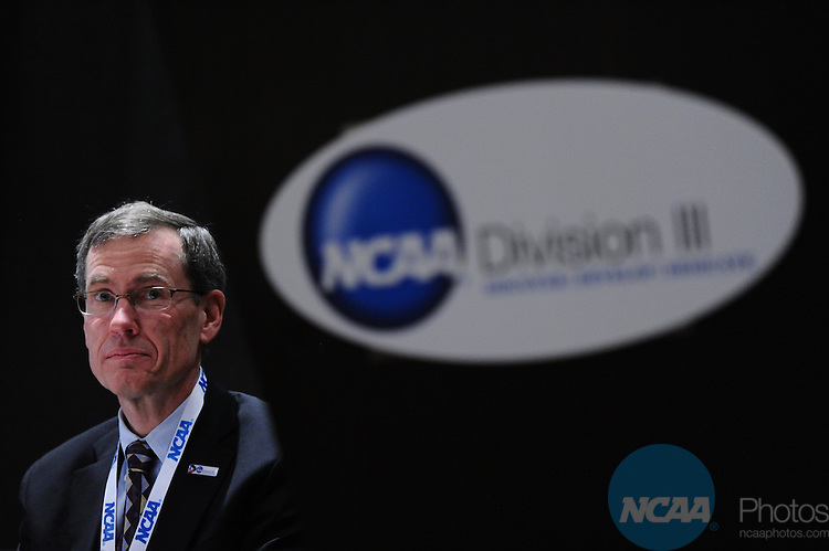 13 JAN 2012: The NCAA Division III Presidents and Chancellors Forum and Luncheon at the 2012 NCAA Convention held at the JW Marriott and Indianapolis Convention Center in Indianapolis, IN.  Stephen Nowland/NCAA Photos.Pictured: Dan Dutcher
