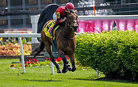 LOUISVILLE, KY - MAY 04: #4 takes the lead during an undercard race on Kentucky Oaks Day at Churchill Downs on May 4, 2018 in Louisville, Kentucky. (Photo by Jessica Morgan/Eclipse Sportswire/Getty Images)