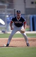 Boston Red Sox third baseman Wade Boggs (26) during spring training circa 1992 at Dunedin Stadium in Dunedin, Florida.  (MJA/Four Seam Images)