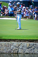 David Lingmerth (SWE) reacts to missing his putt on 9 during round 2 of the Dean &amp; Deluca Invitational, at The Colonial, Ft. Worth, Texas, USA. 5/26/2017.<br /> Picture: Golffile | Ken Murray<br /> <br /> <br /> All photo usage must carry mandatory copyright credit (&copy; Golffile | Ken Murray)