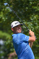 Gary Woodland (USA) watches his tee shot on 11 during round 2 of the WGC FedEx St. Jude Invitational, TPC Southwind, Memphis, Tennessee, USA. 7/26/2019.<br /> Picture Ken Murray / Golffile.ie<br /> <br /> All photo usage must carry mandatory copyright credit (© Golffile | Ken Murray)