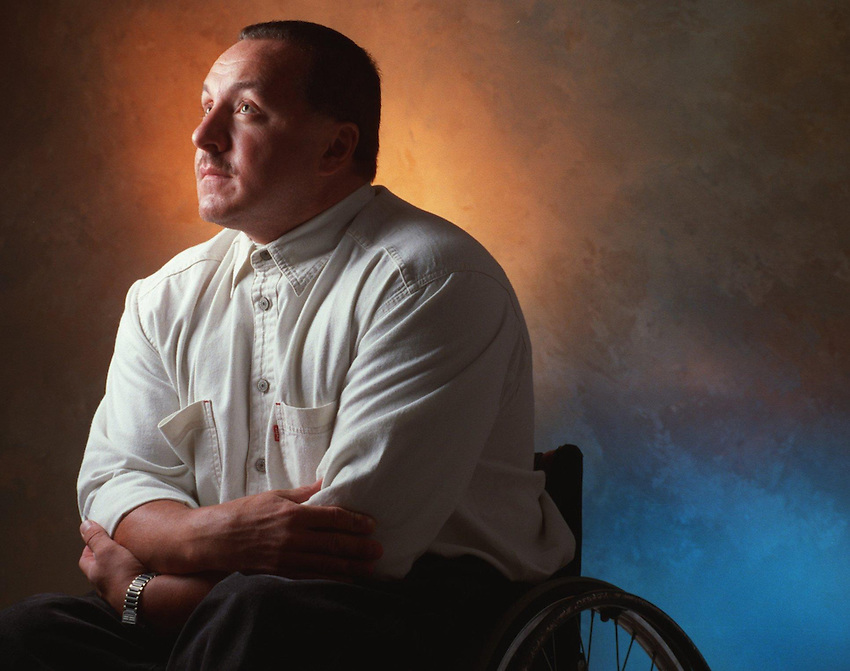 ***** Jamie Smith, 38, of Allentown, a paraplegic from a automobile accident at age 23, will be inducted into the Good Shepherd Hall of Fame for his work with disabled people. He is the former owner of a Nursefinders (a franchise) and is a co-founder of Lehigh Valley Freewheelers. ***** (CHUCK ZOVKO / TMC)