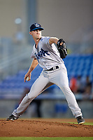 Tampa Tarpons relief pitcher Matt Frawley (48) delivers a pitch during a game against the Dunedin Blue Jays on June 2, 2018 at Dunedin Stadium in Dunedin, Florida.  Dunedin defeated Tampa 4-0.  (Mike Janes/Four Seam Images)