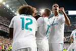 Real Madrid's Raphael Varane celebrates goal during Supercup of Spain 2nd match. August 16,2017. (ALTERPHOTOS/Acero)