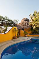 Colorful Palapa bungalow and pool, Sayulita, Mexico