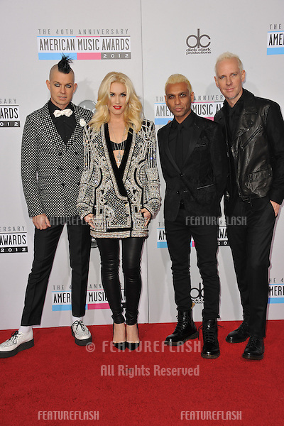 Gwen Stefani & No Doubt at the 40th Anniversary American Music Awards at the Nokia Theatre LA Live..November 18, 2012  Los Angeles, CA.Picture: Paul Smith / Featureflash