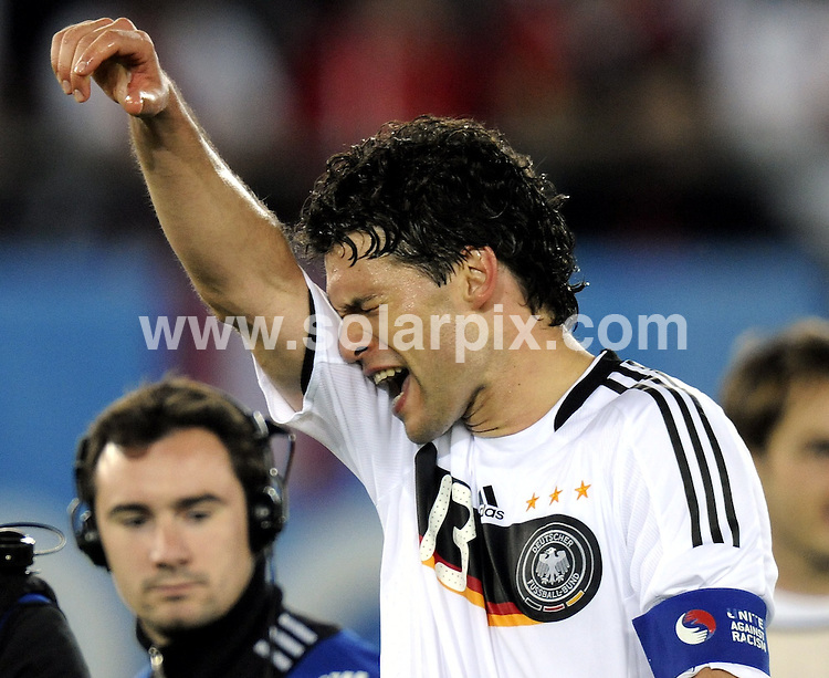 **ALL ROUND PICTURES FROM SOLARPIX.COM**.**SYNDICATION RIGHTS FOR UK AND SPAIN ONLY**.Euro 2008, European Football Championship 2008, held in Austria & Switzerland, Group B, Match 20, Austria vs Germany, at the Ernst Happel Stadium, Vienna, Austria, 16 June 2008..This pic: Michael Ballack..JOB REF: 6655 CPR/Torsten Silz        .DATE: 16_06_2008.**MUST CREDIT SOLARPIX.COM OR DOUBLE FEE WILL BE CHARGED* *UNDER NO CIRCUMSTANCES IS THIS IMAGE TO BE REPRODUCED FOR ANY ONLINE EDITION WITHOUT PRIOR PERMISSION*