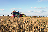 Combine Harvester Fire Bicester Oxfordshire UK. This image may only be used to portray the subject in a positive manner..©shoutpictures.com..john@shoutpictures.com.