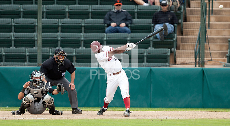 STANFORD, CA - March 27, 2011: Brian Ragira of Stanford baseball hits during Stanford's game against Long Beach State at Sunken Diamond. Stanford won 6-5.