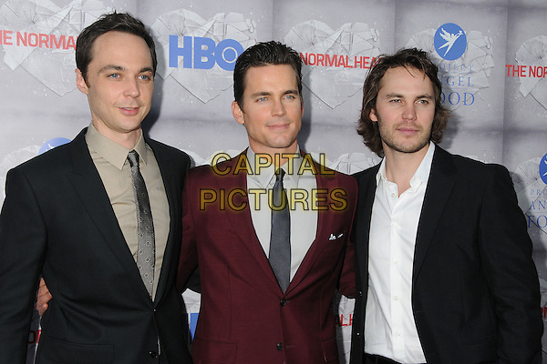 19 May 2014 - Beverly Hills, California - Jim Parsons, Matt Bomer, Taylor Kitsch. &quot;The Normal Heart&quot; Los Angeles Premiere held at The WGA Theater. <br /> CAP/ADM/BP<br /> &copy;Byron Purvis/AdMedia/Capital Pictures