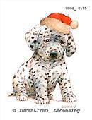 GIORDANO, CHRISTMAS ANIMALS, WEIHNACHTEN TIERE, NAVIDAD ANIMALES, paintings+++++,USGI2195,#XA# dogs,puppies