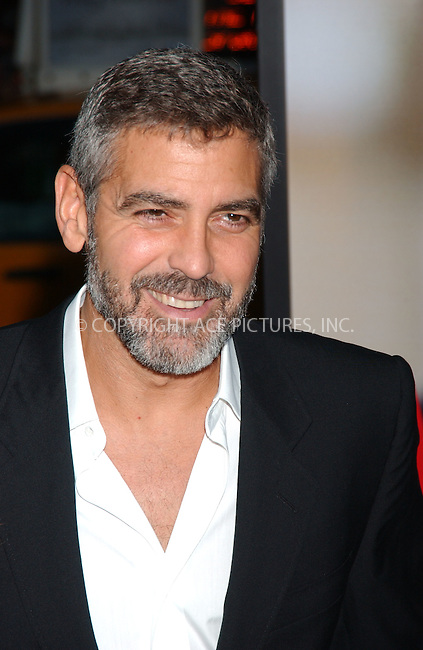 WWW.ACEPIXS.COM . . . . . ....September 24 2007,  New York City....Actor George Clooney arriving at the 'Michael Clayton' premiere at The Ziegfeld Theatre. ....Please byline: KRISTIN CALLAHAN - ACEPIXS.COM.. . . . . . ..Ace Pictures, Inc:  ..(646) 769 0430..e-mail: info@acepixs.com..web: http://www.acepixs.com