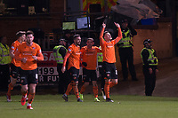 8th November 2019; Dens Park, Dundee, Scotland; Scottish Championship Football, Dundee Football Club versus Dundee United; Lawrence Shankland of Dundee United celebrates after scoring for 2-0 in the 64th minute - Editorial Use