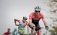Gregory Rast (SUI/Trek-Segafredo) leading the long breakaway<br /> <br /> 98th Milano - Torino 2017 (ITA) 186km