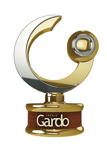 El premio Gardo, diseñado especialmente para el galardón y realizado por Logomarca.