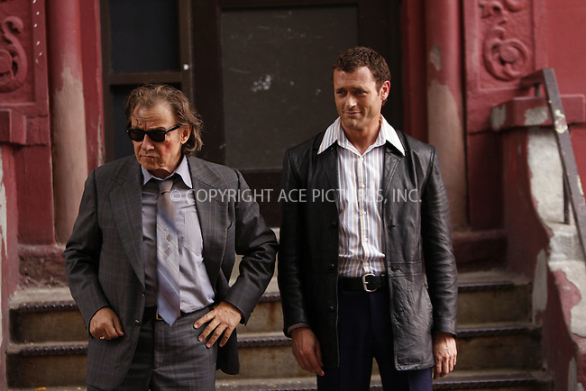 WWW.ACEPIXS.COM . . . . .  ....August 14 2008, New York City....Actors Harvey Keitel and Jason O'Mara on the set of the new TV show 'Life on Mars' in which a present-day detective is mysteriously  taken back to the 1970s forllowing a car accident. The show is a remake of the enormously popular BBC series which is set in England.....Please byline: AJ Sokalner - ACEPIXS.COM..... *** ***..Ace Pictures, Inc:  ..te: (646) 769 0430..e-mail: info@acepixs.com..web: http://www.acepixs.com