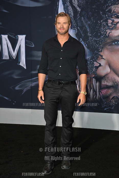 LOS ANGELES, CA. October 01, 2018: Kellan Lutz at the world premiere for &quot;Venom&quot; at the Regency Village Theatre.<br /> Picture: Paul Smith/Featureflash