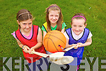 Kayleigh Costello, Caoimhe Leahy and Lauren Nolan enjoying the Gael Campa held in CBS The Green gym last week.