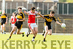 Kieran O'Leary Dr Crokes in action against Breandán Kelliher Dingle in the Senior County Football Semi Final in Fitzgerald Stadium on Sunday.