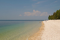 A Lake Huron beach at Mackinac Island in Michigan.