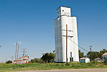 Concrete grain elevator, sugar mill sign