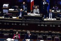 Roma, 30 Aprile 2015<br /> Le operazioni di voto,. Laura Boldrini, Maria Elena Boschi , Paolo Gentiloni.<br /> Votata le seconda fiducia alla Legge elettorale