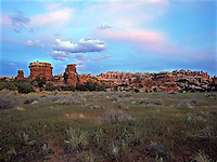 Dawn in Chesler Park in the Needles District of Canyonlands National Park. Utah.