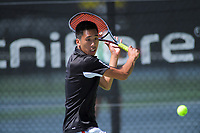 Chris WeiShang Zhang. 2019 Wellington Tennis Open at Renouf Centre in Wellington, New Zealand on Thursday, 19 December 2019. Photo: Dave Lintott / lintottphoto.co.nz