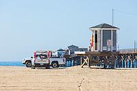 Lifeguards at Seal Beach Pier