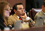 Nevada Assemblyman Derek Armstrong, R-Henderson, works in committee at the Legislative Building in Carson City, Nev., on Wednesday, April 29, 2015. <br /> Photo by Cathleen Allison