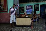 Entrance of a chess club in Santiago de Cuba.