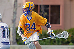 Los Angeles, CA 02-26-17 - Robert Dryden (Loyola Marymount #11) and \s34\ in action during the MCLA conference game between LMU and UC Santa Barbara.  Santa Barbara defeated LMU 15-0.