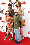 US actor Eric McCormack arrives with son Finnigan (left), wife Janet and a friend at the USA/LA premiere of Dreamworks Animation's 'How To Train Your Dragon' held at the Gibson Amphitheatre at Universal City in Los Angeles on March 21, 2010. The movie is set in the mythical world of burly Vikings and wild dragons and will be released in the US March 26, 2010..Photo by Nina Prommer/Milestone Photo
