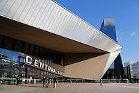 Ingang van het nieuwe Centraal Station in Rotterdam