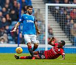 07.04.2018: Rangers v Dundee:<br /> Roarie Deacon tackles Daniel Candeias